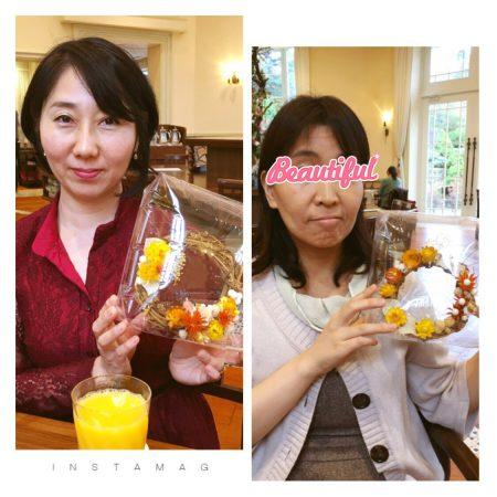 漢方ツアー_20171028_リース作り02